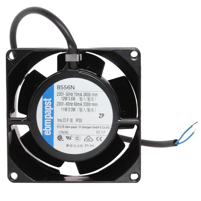 Nouveau et original 8556N 8 cm 8038 80x80x38mm 220 V-230 V Durable haute température ventilateur de refroidissement tout métal ventilateur axial