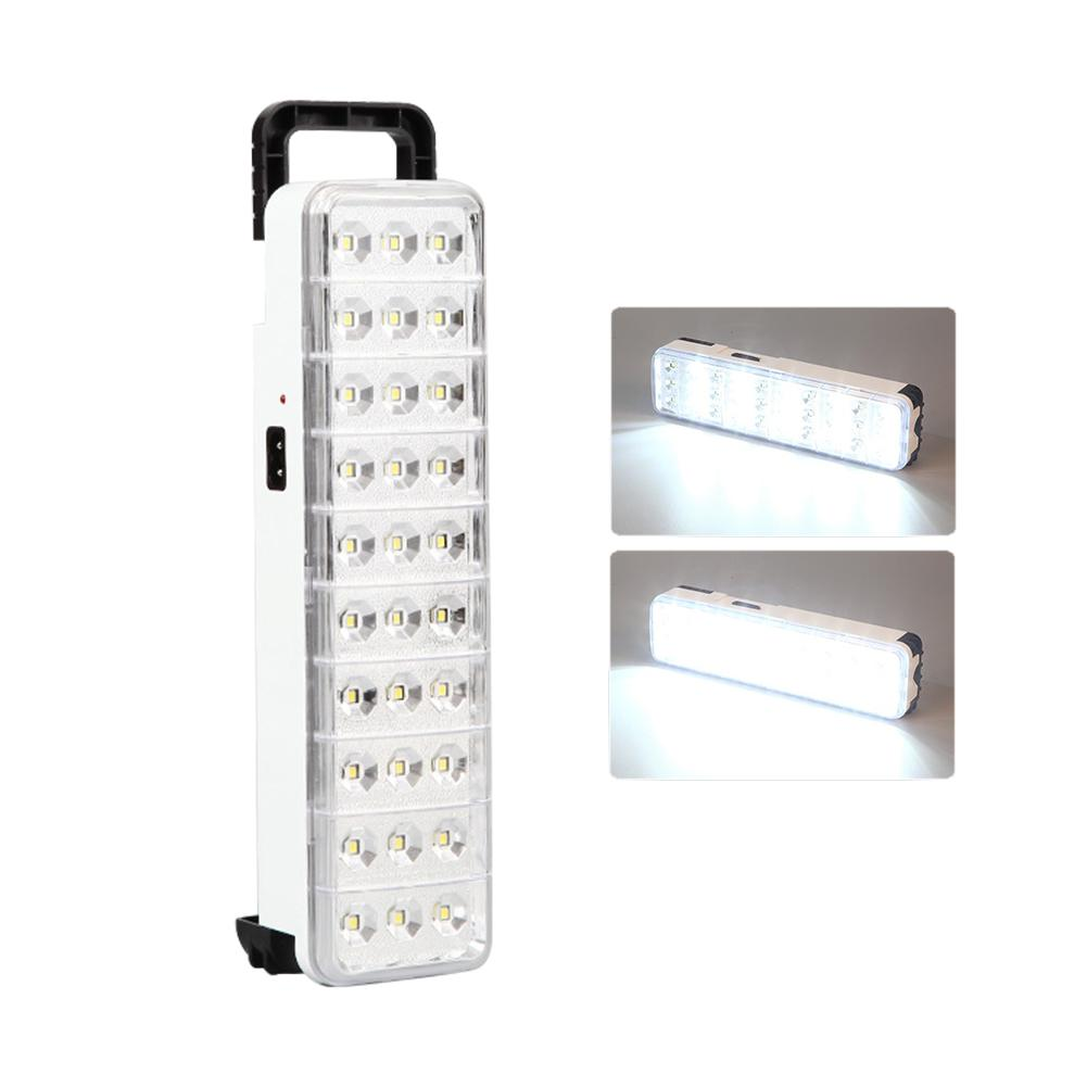 Multi-function Rechargeable Emergency Light Flashlight Mini 30LED Emergency Light Lamp 2 Mode For Home Camp Outdoor