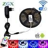 ZGX Wifi Controller SMD 5050 RGB LED Strip Light Lamp 5M 10M 15M Flexible Tape Diode