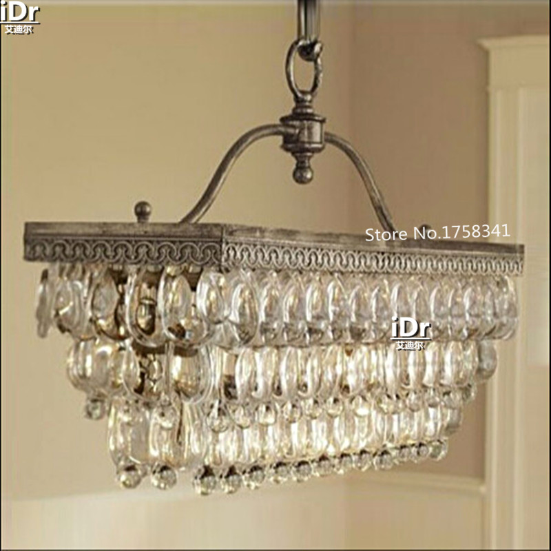 Charmant Living Room Lamp Modern Crystal Chandelier Iron Vintage American Country  Nordic Restaurant Table Upscale Atmosphere In Chandeliers From Lights U0026  Lighting On ...