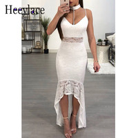 Free Shipping 2018 New Fashion Graceful Lace Patchwork Sexy spaghetti strapes Wholesale Women wedding Celebrity Maxi Long Dress