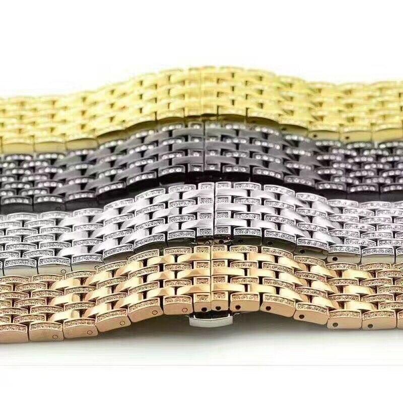 Bracelets de montre diamant strass cristal série 5/4/3/2/1 Bracelet en acier inoxydable pour bracelets de montre Apple 38mm 42mm 40mm 44mm - 2