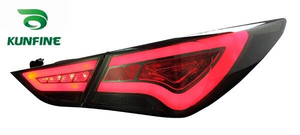 Пара KUNFINE автомобиля задний фонарь для Хендай Соната 2011-2016 светодиодный стоп-сигнал с поворотом световой сигнал