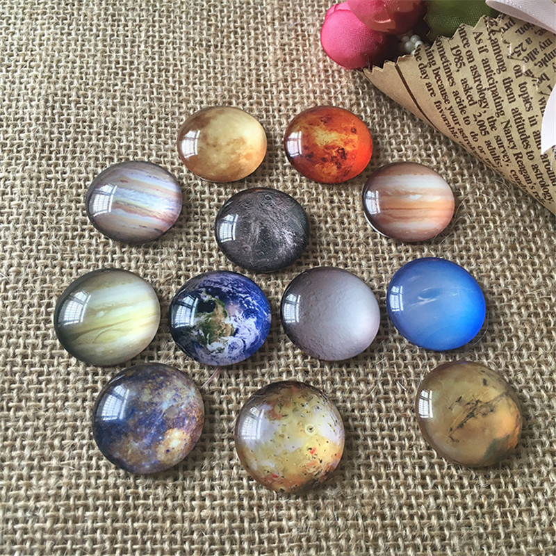 MRHUANG Mix Style Sky universe Glass Round Cabochon 8mm 10mm 12mm 20mm 25mm 30mm Flatback Photo Dome Jewelry Accessories