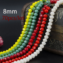 Hot Sale Competitive Price New Design 5A High Quality 8MM 70 Piece/lot Bicone Crystal Beads Cut Faceted Round Glass Bead