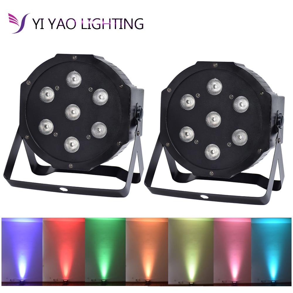 LED PAR Can 7x10W RGBW 4in1 8 Channels DMX512 LED Par Light Stage Lighting Super Bright  2PCS/LOT