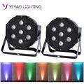 LED PAR puede 7x10W RGBW 4in1 8 canales DMX512 LED par luz de la etapa de iluminación súper brillante 2 unids/lote