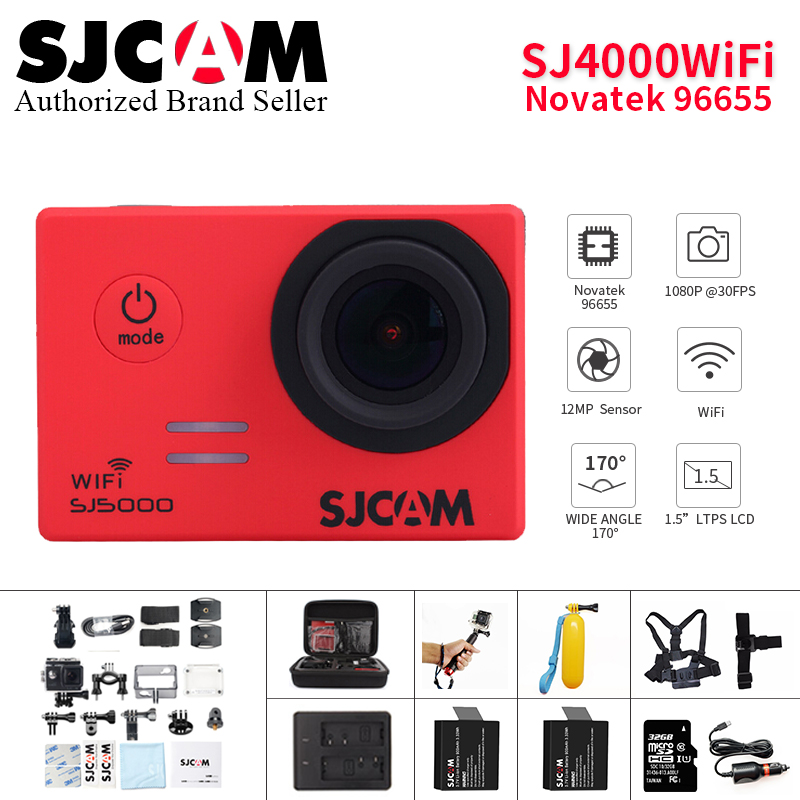 лучшая цена SJCAM SJ4000 wifi Action Camera Diving 30M Waterproof 1080P Full HD Mini Helmet Camcorder 2.0