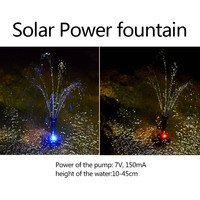 Hot Sale LED Solar Power Water Pump Fountain Automatic Colorful For Garden Lake Fish Pond Pool