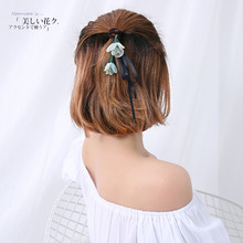 2017 Summer Hair circle Rope Elastic flower headband Ties Thick Hairbands Girl's Hair Bands,Hair Accessories, Headwear for women
