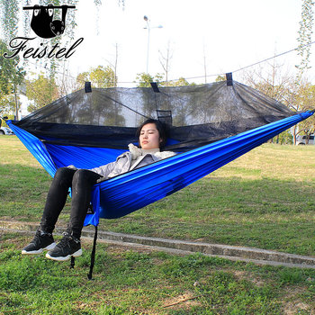 328 Promotion Outdoor hammock rede camping mosquito net camping