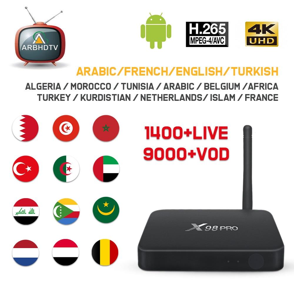IPTV France Arabic X98 Pro 1 month Free IP TV Turkey Belgium IPTV Subscription Android Box Kurdistan IPTV Islam Algeria IP TV 4K-in Set-top Boxes from Consumer Electronics