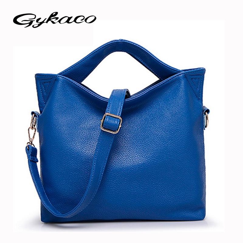 0efb30faa Gykaeo Moda Mulheres Bolsa PU Couro Bolsas de Ombro Mulheres Messenger Bags Bolsas  Mulheres Famosa Marca Tote Bag Ladies Bolsos
