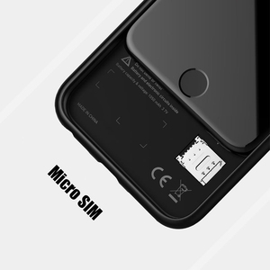 Image 2 - Dual Sim Card Adapter Bluetooth Case for iPhone 6 PLUS 7 PLUS  8 PLUS 6S PLUS Slim Dual Standby Adapter Active Sim Card Holder