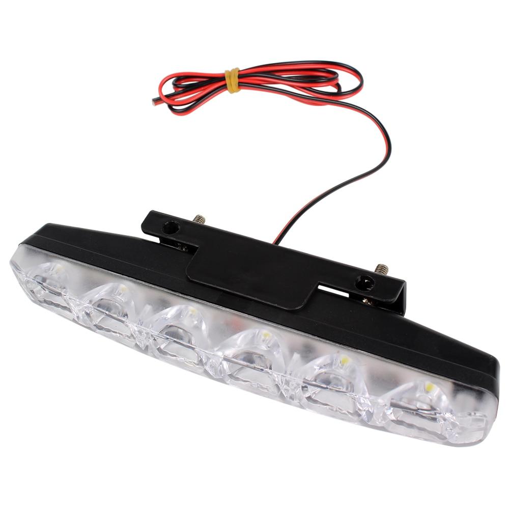2 pcs Car Styling DRL 6 LEDs Carro Luzes Diurnas Carro diurna luz LED - Faróis do carro - Foto 1