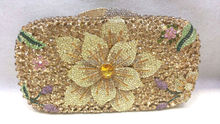 Freies verschiffen!! A15-47, gold farbe mode top kristallsteinen ring handtaschen für damen nette parteibeutel