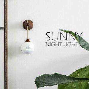 Image 2 - [HOT] oryginalna Sothing Sunny inteligentna inteligentna ludzka indukcja ciała LED light akumulator sterowanie głosem ręczne