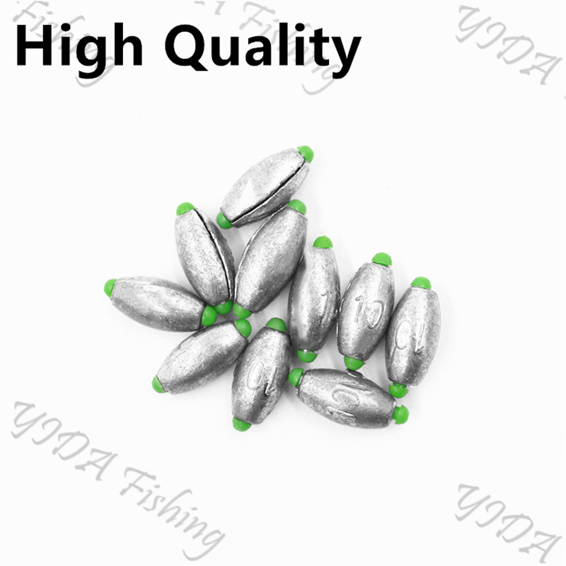 Hot 3g/5g/7g/10g/14g/20g Quick Olive Shaped Sinker Fishing Lead Fall Hook Connector Opening Mouth Line Weights Round Shot Split