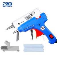 PROSTORMER High Temp Heater Melt A Hot Glue Gun 20W 40W Repair Tool Heat Gun Mini Gun EU Use 7mm Glue Sticks Optional Base