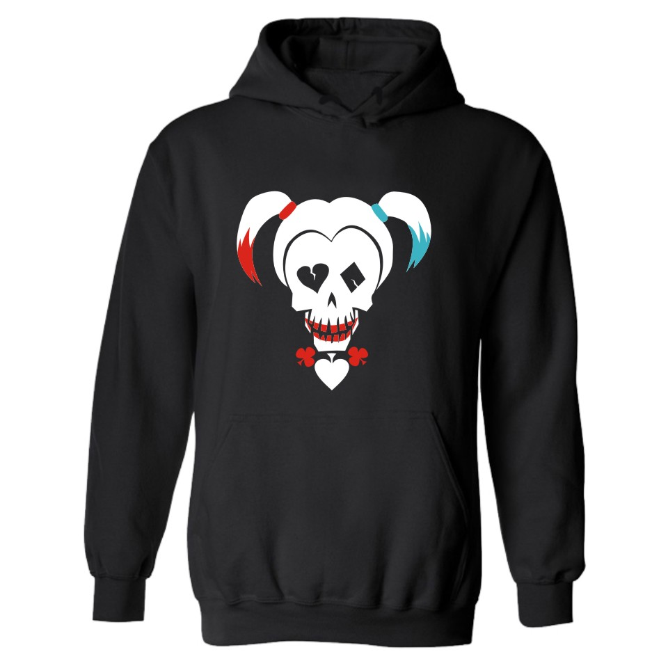2018 DC Suicide Squad Harley Quinn Hooded Men&women oversized Hoodie in Super Hero Mens Hoodies and Sweatshirts moletom 4XL