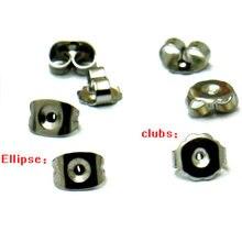 200 шт заглушки для сережек гвоздиков 6 х4 мм