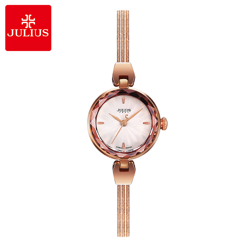 Top Lady Women's Watch Japan Quartz Hours Fine Fashion Dress Snake Chain Bracelet Office Business Girl Birthday Gift Julius Box