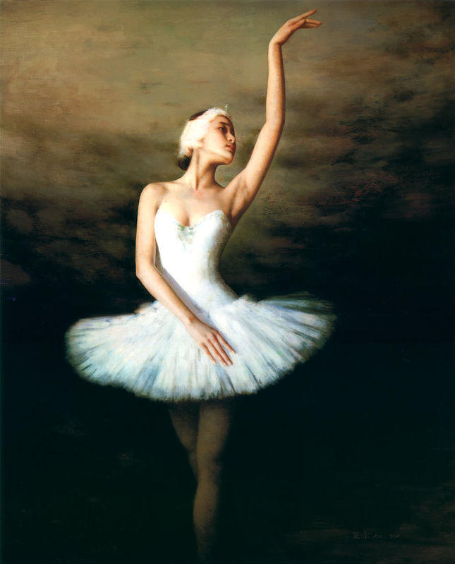 Handmade Famous Ballerina Canvas Painting Living Room Pictures Design