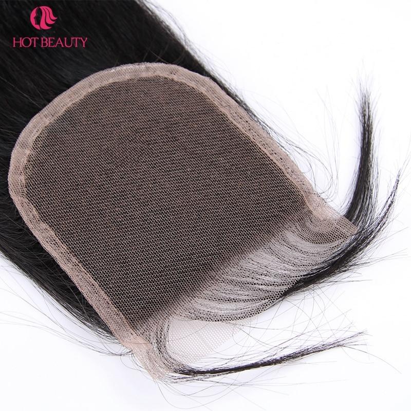 Гарячі волосся закриття перуанських - Людське волосся (чорне) - фото 3