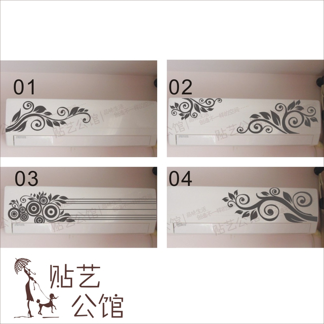 kitchen cabinet decor light over sink flower air conditioning stickers furniture decoration home decals fashion cute waterproof