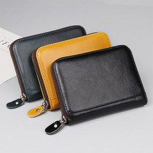 Real Cowhide Split Leather RFID Blocking Anti Theft Wallet Women Big Long Passport Travel Wallets Card Purse Men R-8439