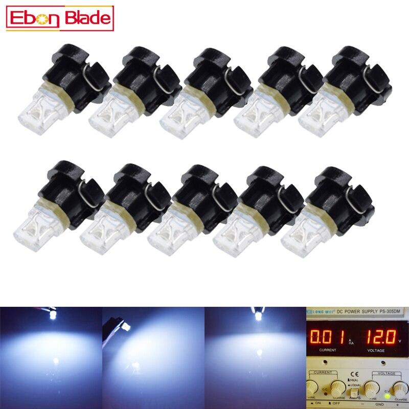 10 шт., светодиодный светильник T3 1 SMD для салона автомобиля, светильник s, Приборная панель автомобиля, лампа, блок ламп 12 В, DC Аксессуары для ав...