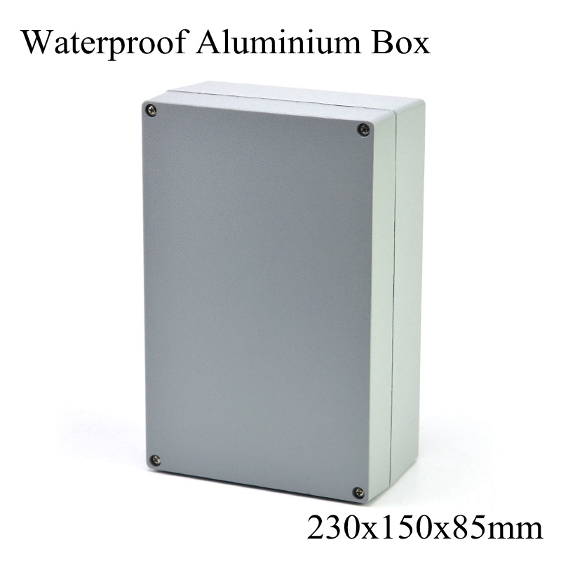 FA10-2 230x150x85mm Aluminum Waterporrf Enclosure Sealed Project Electrical Wire Junction Case Distribution Box <font><b>230*150*85mm</b></font> image