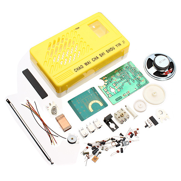 New SW AM Radio Electronics Kit Electronic DIY Learning Kit Acoustic Components(Random Color)