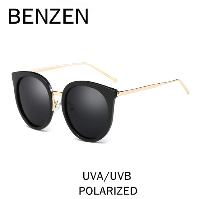 de93db25e0e BENZEN Sunglasses Women Brand Designer Polarized Female Sun Glasses Summer Ladies  Shades Vintage Cat Eye Eyewear With Case 6316