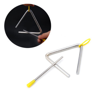 1Pc Triangle Orff Musical Instruments Band Percussion Educational Musical Triangolo for Children 4/5/6/7/8/ inch