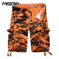 MISNIKI Hot Casual Mens Shorts Summer Camouflage Cotton Cargo Shorts For Men
