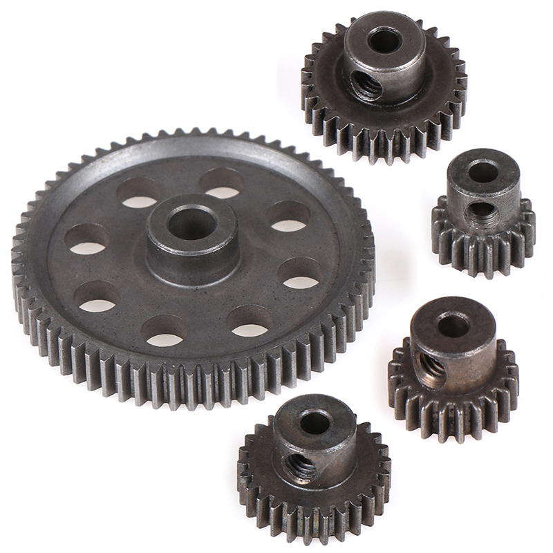 11184 Metal Diff Main Gear 64T 11181 <font><b>Motor</b></font> Pinion Gears 21T Truck 1/10 <font><b>RC</b></font> Parts HSP BRONTOSAURUS Himoto Amax Redcat Exceed 94111 image