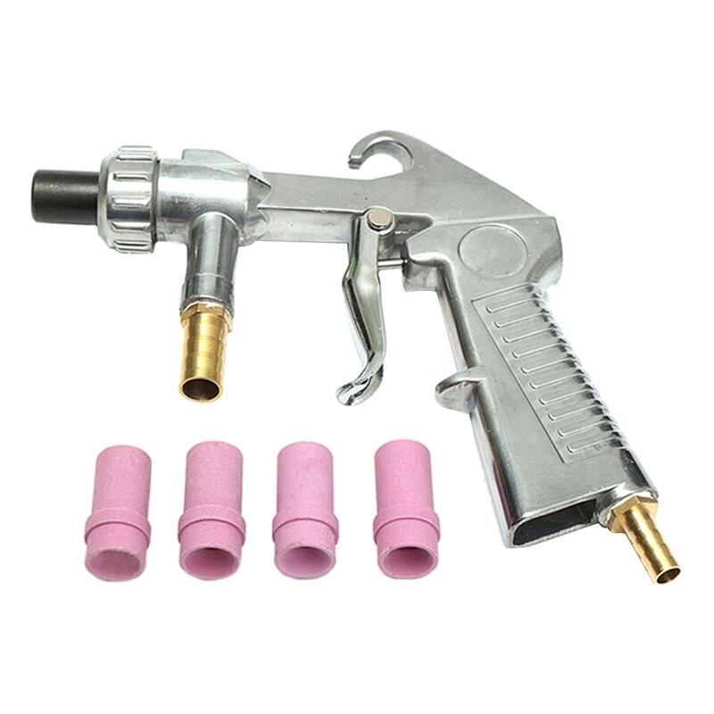 Pistola de chorro de arena con sifón de aire + unids 4 boquillas de cerámica abrasivas 4,5mm/5mm/6mm/7mm conjunto