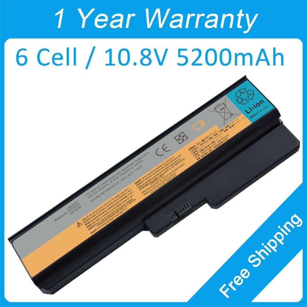 Аккумулятор для ноутбука 5200 мАч для Lenovo G430 3000 G430 4152 G530 4151 G450 2949 L08S6C02 LO806D01 LO8N6Y02 ASM 42T4586 42T4728