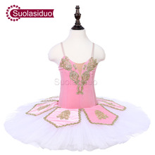 Girls Pink Stage Ballet Tutu Costumes The Sleeping Beauty Performance Dance Children Dresses Clothes