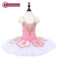 Girls Pink Stage Ballet Tutu Costumes The Sleeping Beauty Performance Ballet Dance Tutu Children Ballet Dresses Clothes