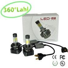 V8S COB Voiture LED Phare 80 W 12000LM H1 H3 H4 H7 H8 H9 H11 9005 9006 9012 9004 9007 H13 Automobiles 6000 K blanc Brouillard Lampes au xénon