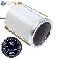 2 52mm Car Universal Smoke Len LED Water Temperature Gauge Meter