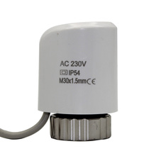230v NO thermal actuator electric valve for underfloor heating radiator valve control normally open