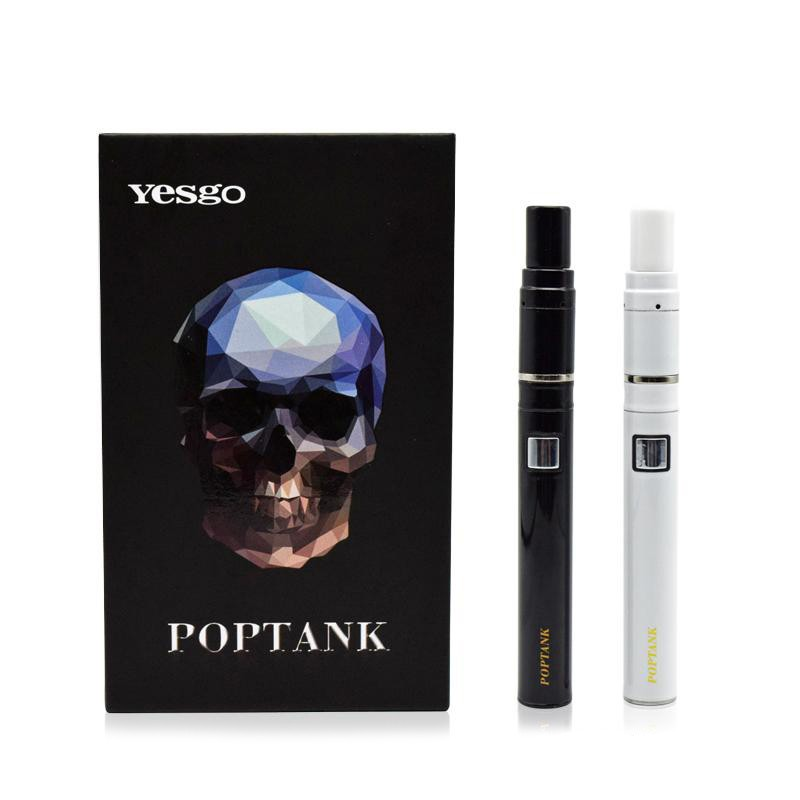 Dry-Herb-Wax-Yesgo-Poptank-Electronic-Cigarette-650mah-Battery-Ceramic-Coil-Vaporizer-Pen-e-Cigarette-Vapor