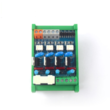 4-channel PLC AC amplifier board, transistor output optocoupler isolation short circuit protection