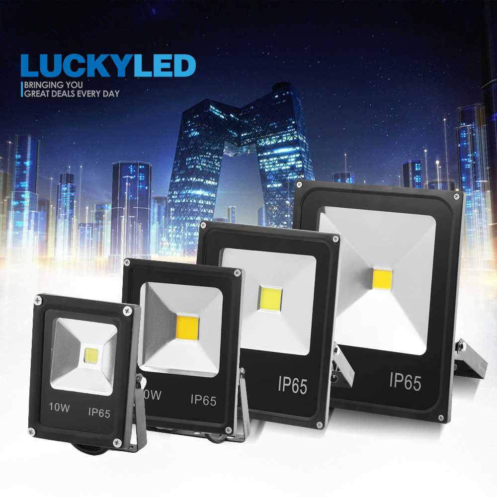 LUCKYLED Led Spotlight Outdoor 50W 30W 20W 10W Led Flood Light 220V 240V Waterproof Ip65 Led Reflector Projector Floodlights