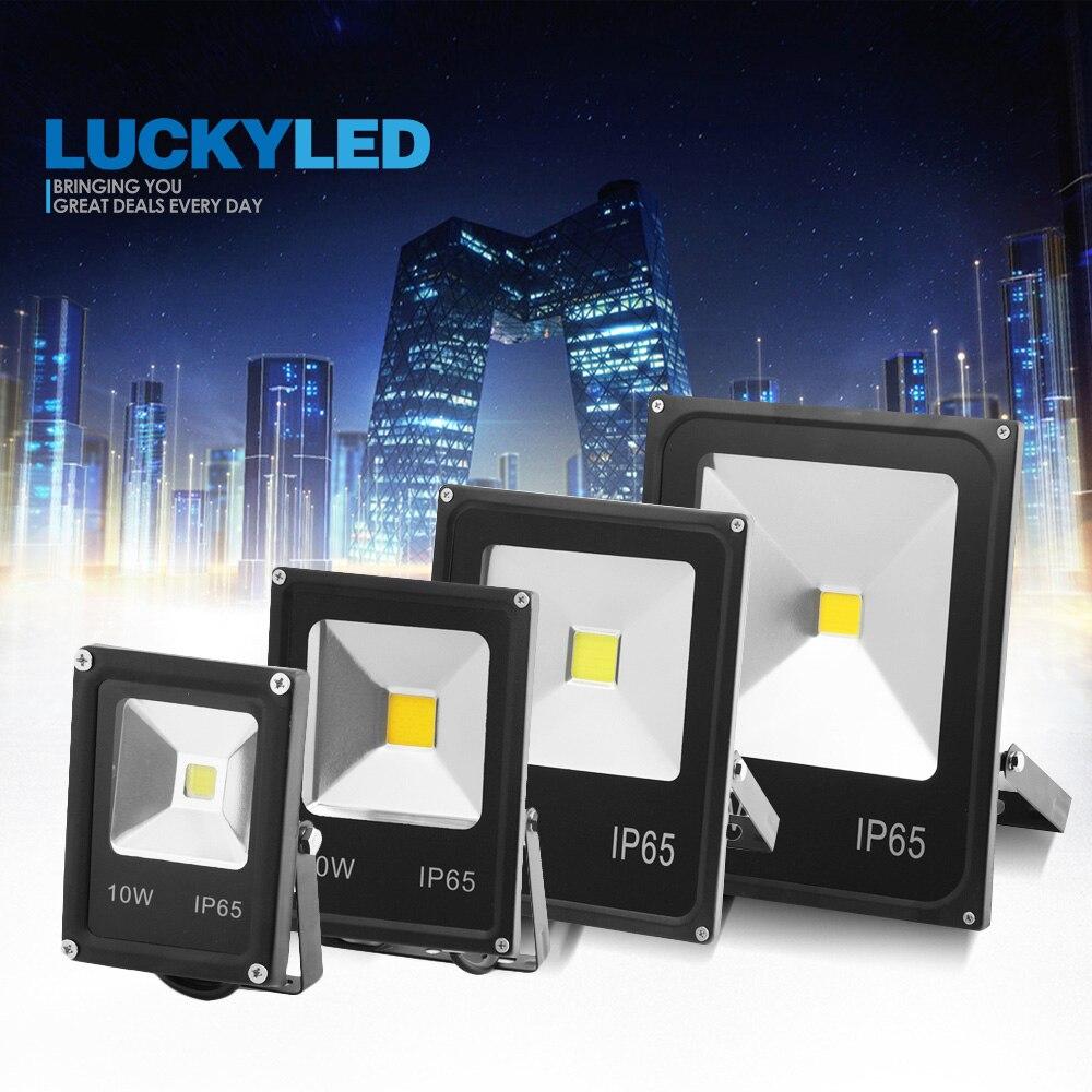 LUCKYLED llevó el proyector al aire libre 50W 30W 20W Luz de inundación Led de 10 W, 220V 240V impermeable Ip65 Reflector Led para proyector proyectores