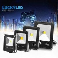 Luckyled led holofotes ao ar livre 50 w 30 20 10 led luz de inundação 220 v 240 v à prova dwaterproof água ip65 led refletor projectores|Holofotes|   -