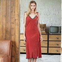 Velvet Night Dress Vintage Sexy Backless Sleepwear Nightwear Nightgown Women Spring Summer Nighty